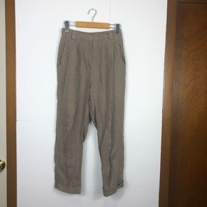American Apparel High-Waisted Pleated Pants Sz S
